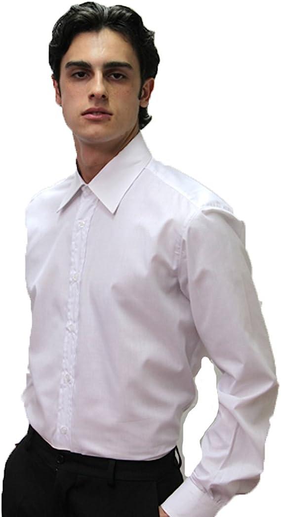 Camisa de camarero para hombre de algodón y manga larga ...
