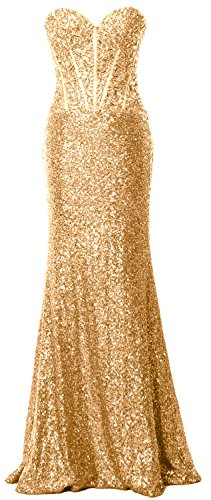Evening Dress Gown Sequin Prom Champagne Formal Strapless Long Macloth Party Mermaid Women Twgq744z