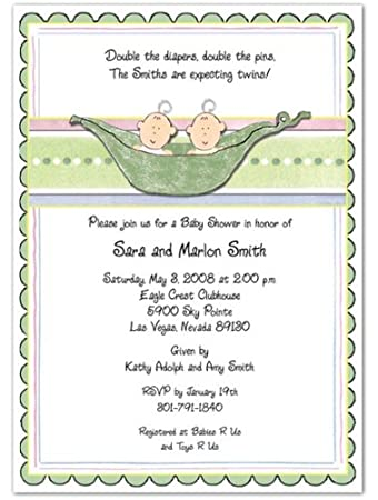 Amazon 3d 2 peas in a pod boys baby shower invitations set 3d 2 peas in a pod boys baby shower invitations set of 20 filmwisefo