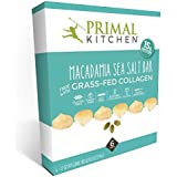Primal Kitchen - Macadamia Sea Salt Collagen Protein Bars, 12 Grams of Protein, Paleo Approved (6 Count, 1.7 oz)