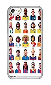 Apple Iphone 5C Case,WENJORS Uncommon Playmakers Hard Case Protective Shell Cell Phone Cover For Apple Iphone 5C - PC Transparent by icecream design
