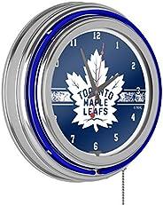 Trademark Gameroom NHL Chrome Double Rung Neon Clock-Toronto Maple Leafs