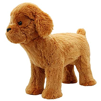 Lifelike Pet Dog Squeaky Toys Realistic Looking Dog Plush Toys Dog Chew  Toys Cute Puppy Stuffed Animal Toys for Small Medium Large Dog Pets