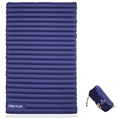HIKENTURE Double Sleeping Pad - Inflatable Camping Air Mattress - Light and Compact - for Backpacking, Self-Driving Tour, Hiking, Tent