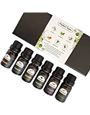 Essential Oils 6 Pack 10ml 100% Pure Natural Aromatherapy Essential Oil Set Essential Oils for Diffuser Humidifier