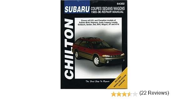 Chilton Subaru Coupes/Sedans/Wagons 1985-96 Repair Manual: Gordon L ...