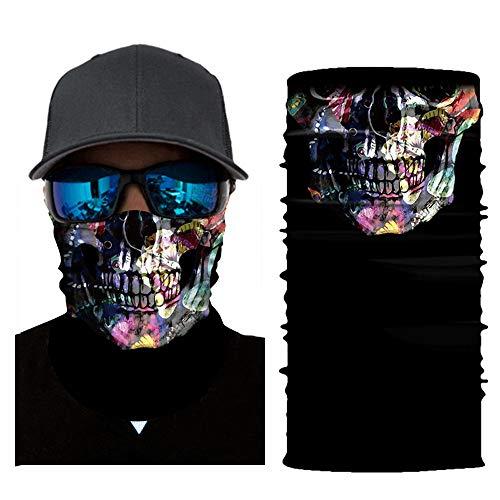 AutumnFall Bicycle Motorcycle Neck Tube Ski Scarf Face Mask Balaclava for Camping,Running,Cycling,Biking,Motorcycling,Fishing,Yard Working and Sun UV Protection (B-4)