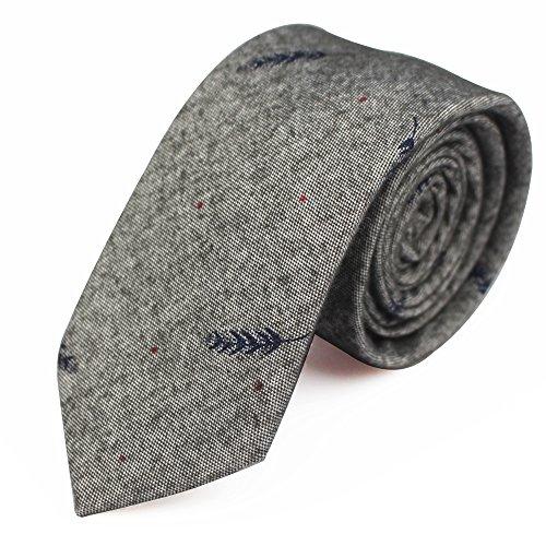 - Fashion Ties for Men Cotton Narrow Tie Skinny Cravat Neckties for Winter Men Party Skinny Tie Casual Printed Neck Ties Neckwear (18312)