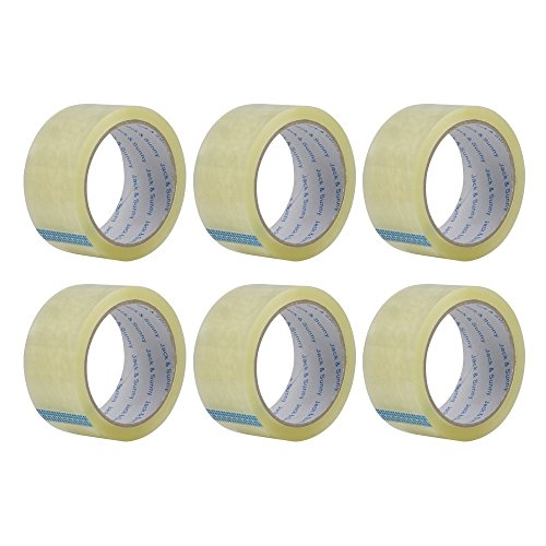 Jack&Sunny Heavy Duty Packing Tape Low Noise 1.88 Inch x 54.6 Yard(Pack of 6 Rolls) Industrial Packaging Tape Great for Packing Shipping Moving Depot&Storage Clear Photo #5