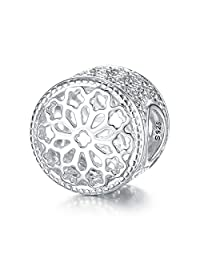 925 Sterling Silver Charms Made with Swarovski Crystal Fit for Pandora Bracelet