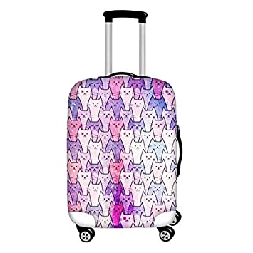 Cartoon Lovely Cat Luggage Protective Cover Protective Travel Suitcase Cover for 18-30 Inch Trolley Case Rain Cover