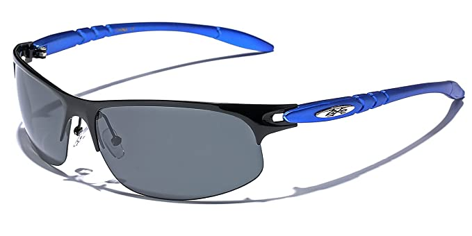 b3a35f162c Amazon.com  Polarized Half Frame Men s Wrap Around Fishing Golf Driving  Sports Sunglasses  Clothing