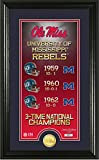 NCAA Mississippi Old Miss Rebels Legacy Coin Pano Photomint, 24'' x 16'' x 4'', Bronze