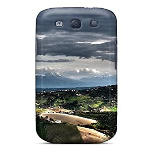 Ultra Slim Fit Hard MeSusges Case Cover Specially Made For Galaxy S3- L Before The Mountain Abruzzo Italy
