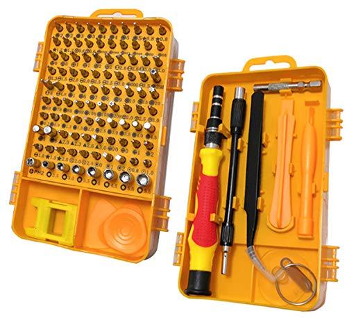 AKIKO Screwdriver Set,110 in 1 Precision Screwdriver Set Multi-function Magnetic Repair Tool Kit for iPhone,Computer,iPad, PC,PlayStation, Electronic