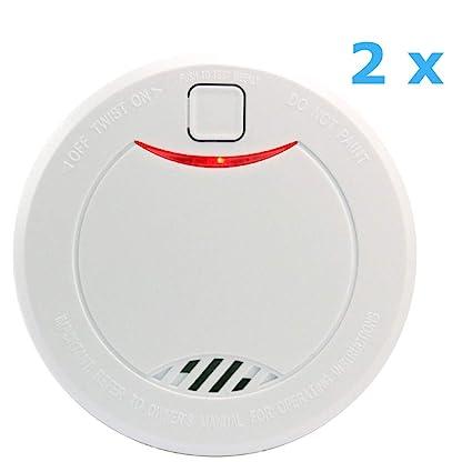 heiman 10 años Detector de humo (con indicador LED y fotoelektrischen Sensor - Color Blanco