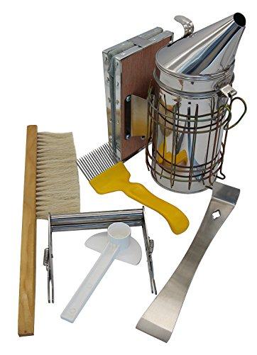 Hive Tool (Blisstime Beekeeping Tool Kit Set of 6 Bee Hive Smoker,Bee Brsuh Beekeeping Accessory -Bee Keeping Tool)