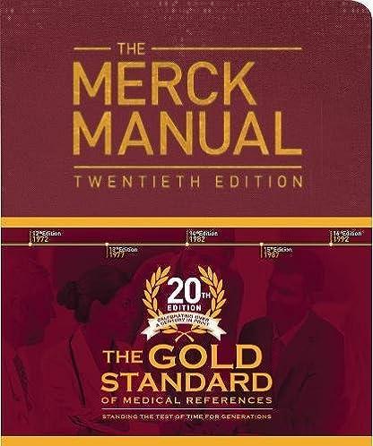 the merck manual of diagnosis and therapy robert s porter rh amazon com Merck Manual of Geriatrics Merck Manual Book