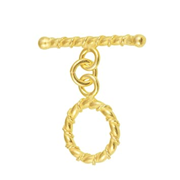 18K Gold Overlay Twist Ring Coverd by Twisted Rope Toggle TG-116