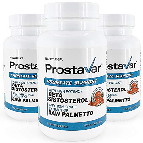Prostavar Prostate Support with Saw Palmetto – 3 Bottles