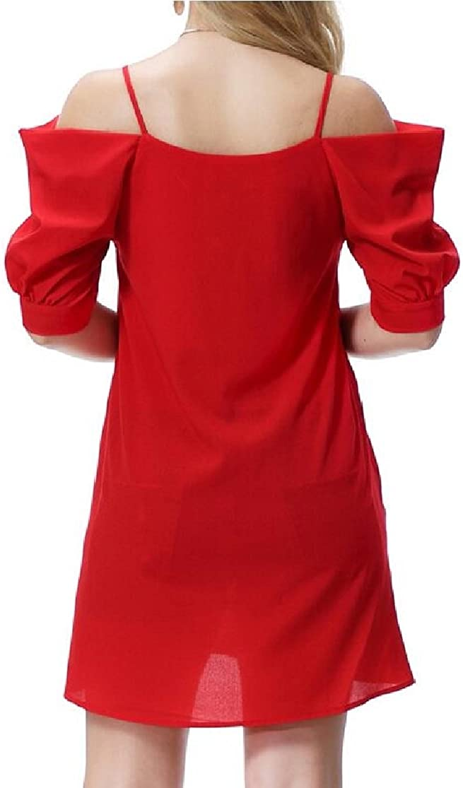M/&S/&W Cold Shoulder Dress Womens Cut Out Shoulder Cami Mini Dress