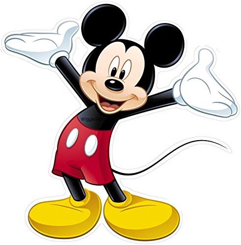 8 Inch MICKEY MOUSE Removable Wall Decal Sticker Art Walt Disney Home Decor 8 1/2 inches wide by 8 1/2 inches - Decals Appliques Wall