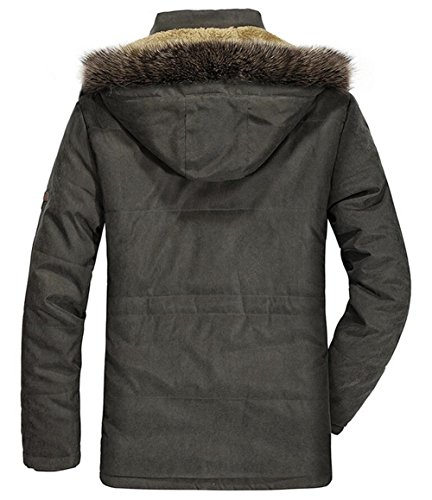 Prueba Chaqueta De Coat Algodón Cálido Hombre Para Con Viento Piel Mens Oscuro Artificial Jacket Azul Capucha UAwqAP