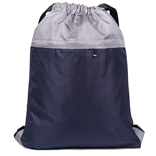 Swimming Drawstring Backpack Bag Sports Gym Backpack Simple Plain string Gymsack Pack Men Women Waterproof ori (M)