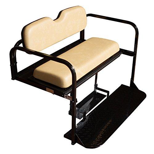 Golf Cart Rear Seat EZ-GO TXT Tan Cushions by Performance Plus Carts (Image #4)