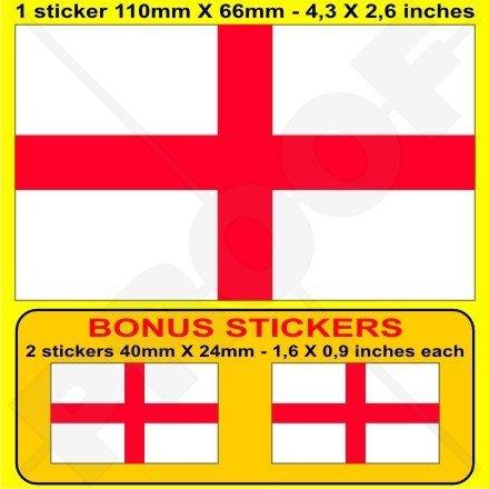 ENGLAND English Flag St George's Cross Britain UK 4,3