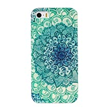 ABC® iPhone5 5s Case Cover, iPhone5 Case, iPhone5s Case, Floral Pattern Stand Flip TPU Back Case Cover for iPhone5 5s