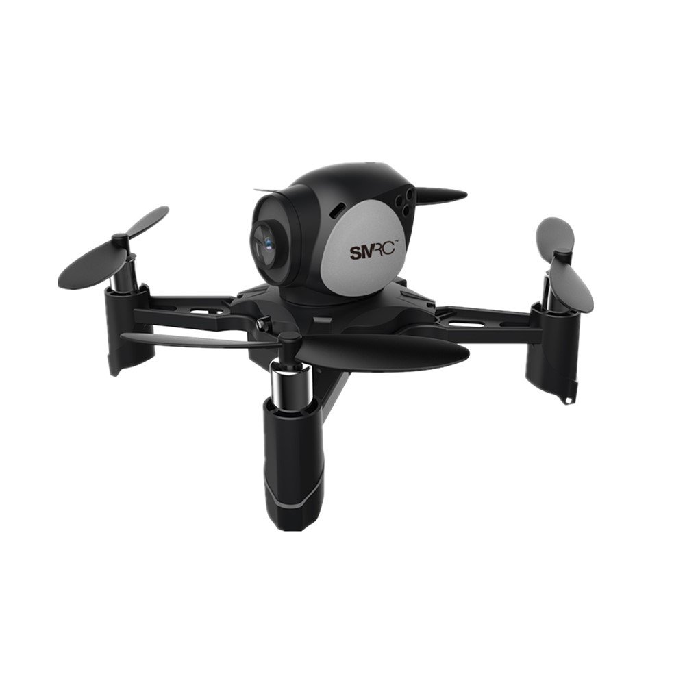 DraWaoy DIY Four-axis Aircraft WIFI Real-time Transmission Aerial Combat Drone Altitude Hold One-click Return Headless Mode RC Quadcopter(Black)