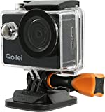 Rollei Actioncam 415 - Camera with Full HD, 140° Super Wide Angle Lens, Integrated Wi-Fi, Underwater Case - Black
