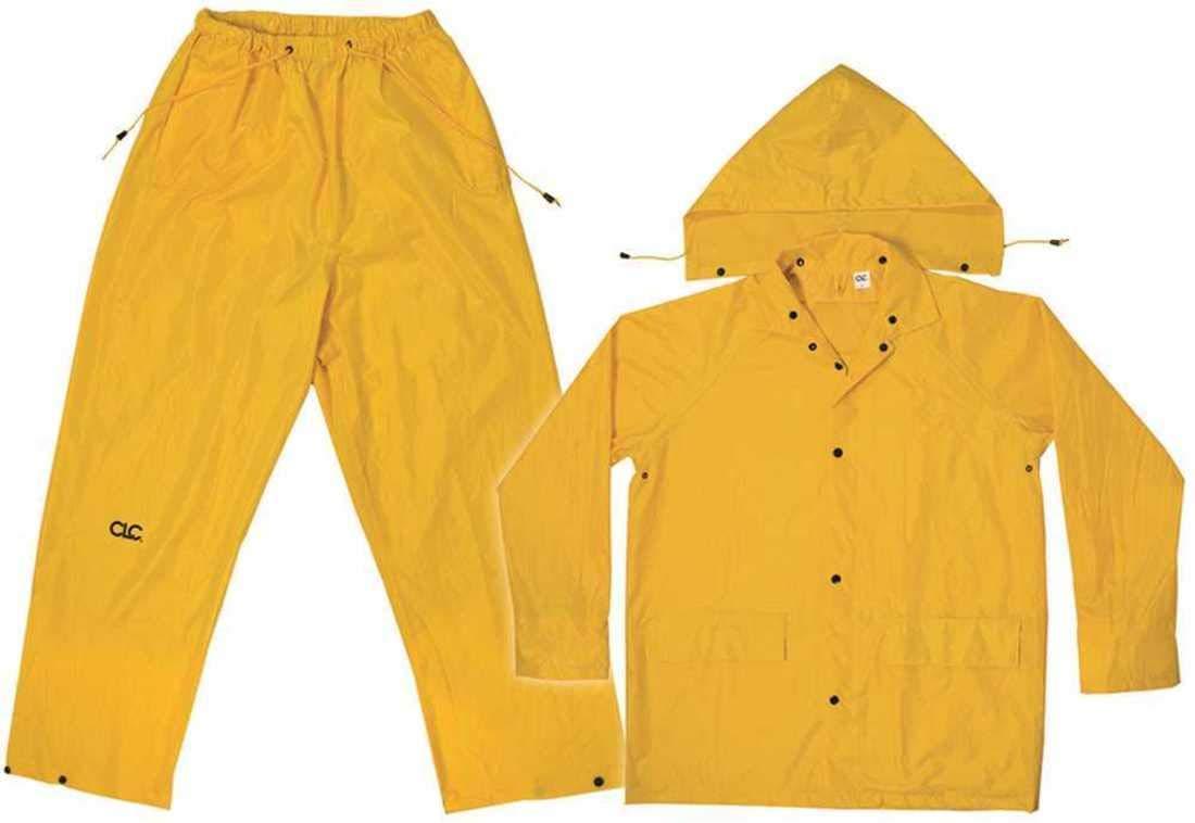 Custom LeatherCraft Manufacturing Co, Inc R102L Unisex Large Yellow Polyester Rain Suit