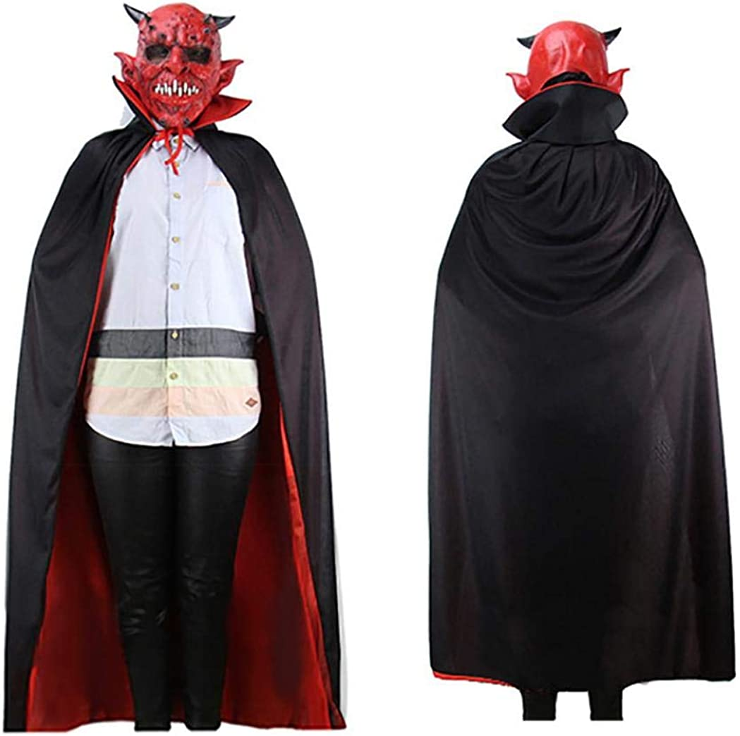 Halloween Hooded Robe Cloak Cape Adult Costume Festival Cosplay Party Play Fun