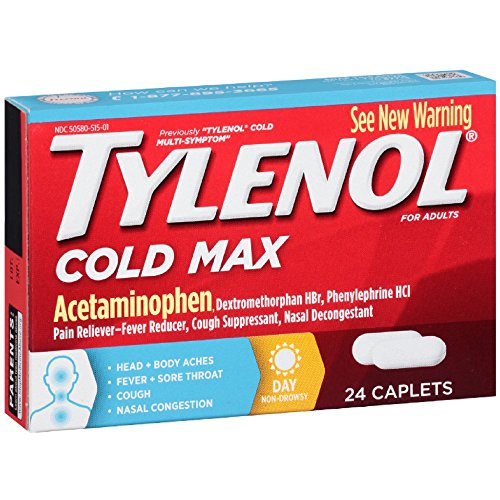 (Tylenol Cold Max Daytime Caplets, 24 Ct. (Pack of 2))