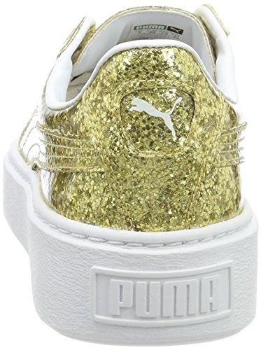 Donna Platformglitter Basket da Ginnastica Scarpe Gold gold Basse Oro Puma qRwY5tdY