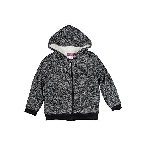 Coney Island Sherpa Hoodie For Girls & Toddlers With Zipper (Island Kids Hoodie)