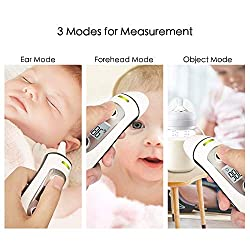 Baby Digital Ear Thermometer, Medical Forehead Infrared Thermometer for Fever, Dual Mode and Instant Accurate Reading Thermometer for Adults, Toddlers and Kids