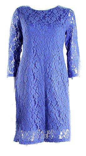 Spense Petite Pretty Peri Blue 3/4 Sleeve Lace Dress Women's 10 Petite (3/4 Sleeve Spense)