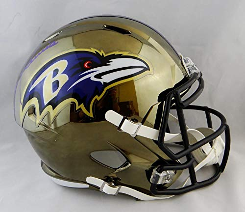 512be280862 Ray Lewis Autographed Baltimore Ravens Full Size Chrome Helmet - JSA W Auth  Purple