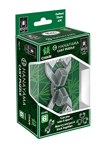 CHAIN Hanayama Cast Metal Brain Teaser Puzzle (Level 6)