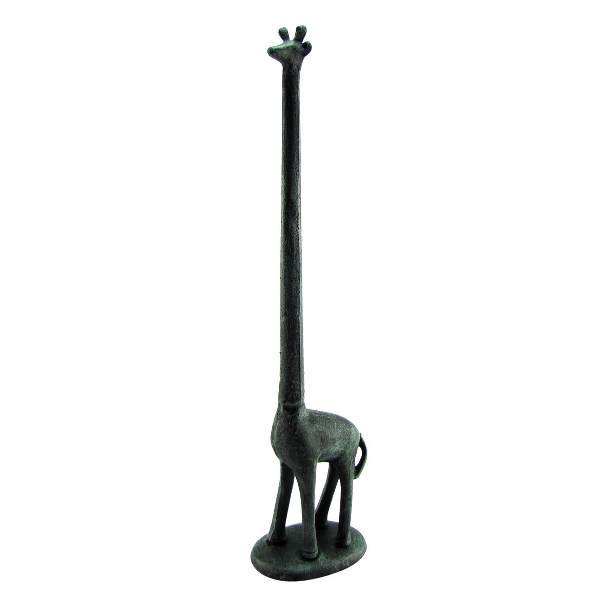 Metal Giraffe Bathroom Toilet Tissue Roll or Kitchen Paper Towel Holder Home Decor