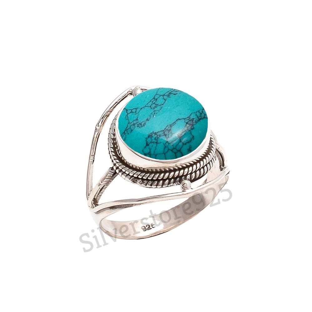 9 14 Ring Size|Chrysocolla Silver Ring|Green Ring|Natural Gemstone Ring|Silver Ring