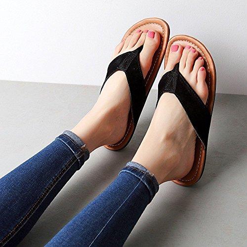 per EU38 pantofole CN36 flip maschio 5 flop confortevole da estivo elegante scarpe EU36 Dimensioni femmina LISABOBO nero UK4 spiaggia CN38 UK5 Colore fresco Femmina femmina di xp0E1wPqB