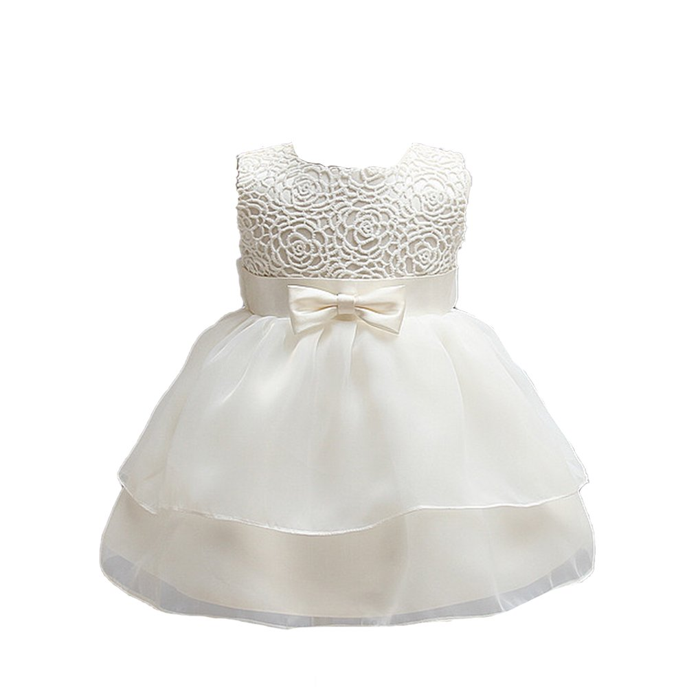 EsTong Baby Girls Dress Christening Baptism Flower Gowns Bowknot Dresses