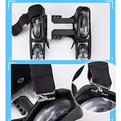 U.Buy - Zapatillas de skateboarding de Caucho para niño negro