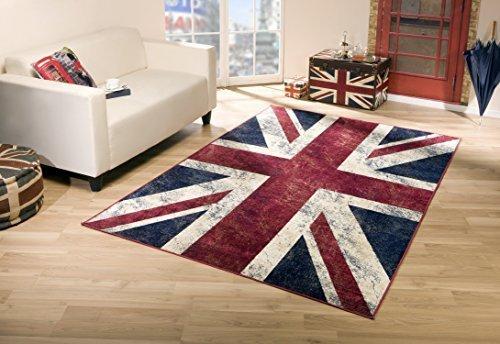 Union Jack Vintage Teppich Flagge UK (120x170 cm)