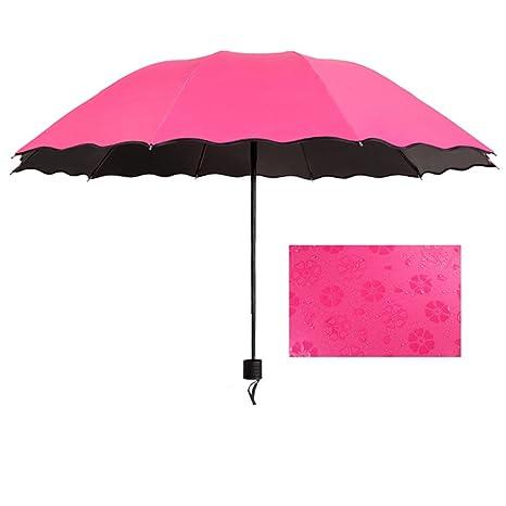 Guoke Sunny Paraguas Chica Colapso Con Dos Paraguas Paraguas Protector Solar Grande Protección Uv, Mejor