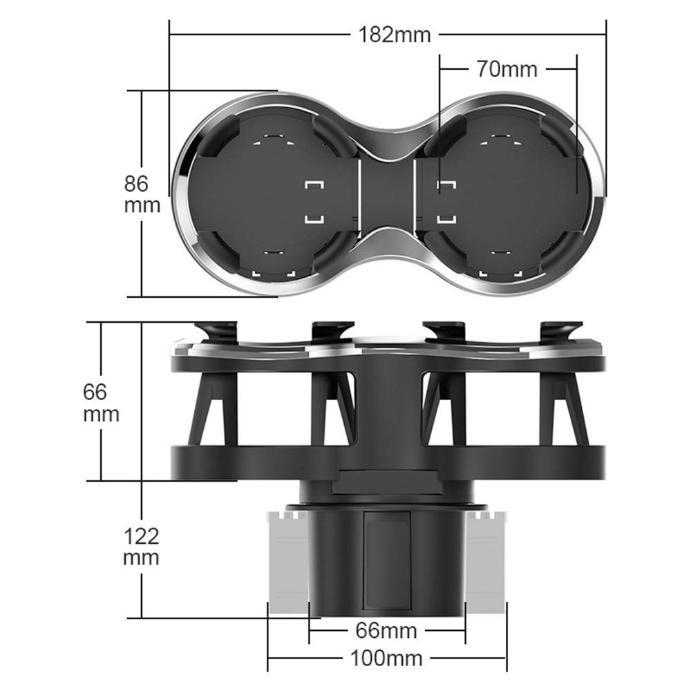 Portavasos de Agua para Coche Portavasos Universal de Doble Orificio para Coche con Base Ajustable para Botellas de Agua Soporte de Soporte de Almacenamiento